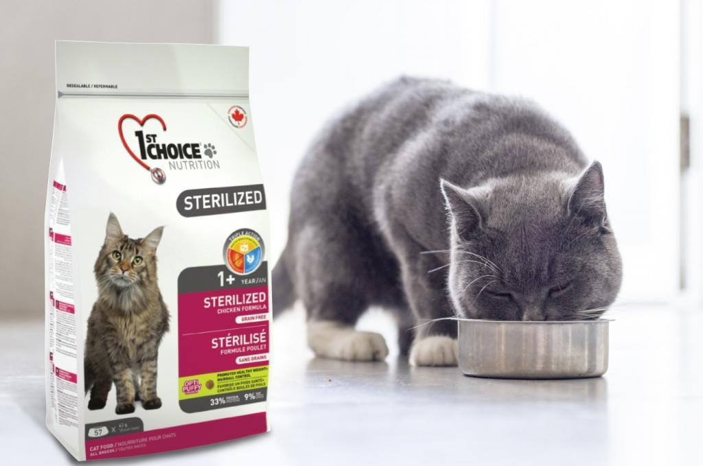 супер-премиум корма для стерилизованных кошек